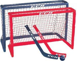 CCM Mini-Hockey-Set 81 x 53 x 30 cm junior rot / blau