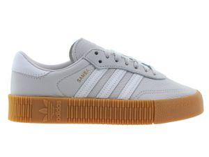 Adidas Sambarose Damen Sneaker Grau Leder, Größe:42