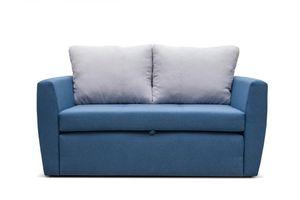 Schlafsofa KAMEL 188x122 cm Zweisitzer mit Bettkasten für Wohnzimmer Velour Modern