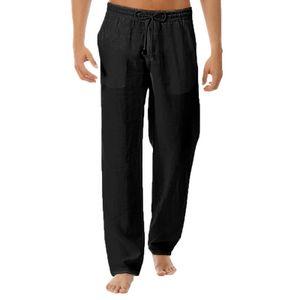 Yogahosen Kordelzug Mid Rise Männer Einfarbige Hosen mit weitem Bein Hosen für den Sport