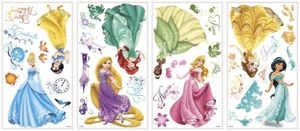 RoomMates - DISNEY Prinzessinnen glitzernd - Wandtattoo Wandsticker Wandaufkleber Wandbilder