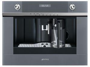 SMEG CMS4101S Einbau-Espresso-/Kaffeevollautomat Silberglas LINEA DESIGN 1750W
