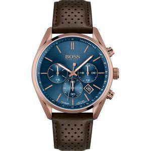 Hugo Boss Herren Chronograph Champion Armbanduhr 1513817 - Edelstahl/Braun/Blau