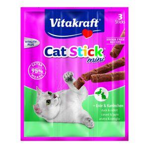 Vitakraft Katzensnack Cat-Stick mini Ente & Kaninchen - 3 x 6g