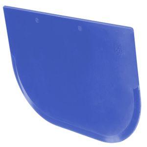 mumbi Teigschaber Teigstecher Tortenspachtel Teigportionierer Teigkarte Teigschneider Cremeschaber 122 x 85mm in blau