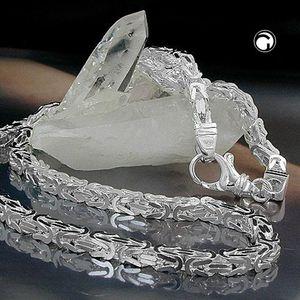 Kette ca.5mm Königskette vierkant glänzend Silber 925 70cm