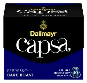 Dallmayr Capsa Espresso Dark Roast | 10 Nespresso® komp. Kapseln