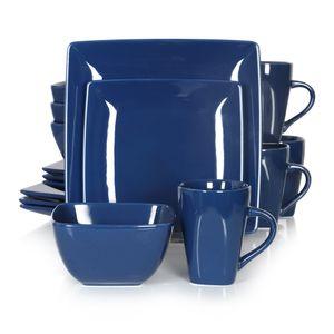 vancasso Tafelservice »SOHO« 16-tlg. Porzellan Teller Set, Kombiservice Tafelset mit Kaffeetassen, Müslischalen , Blau