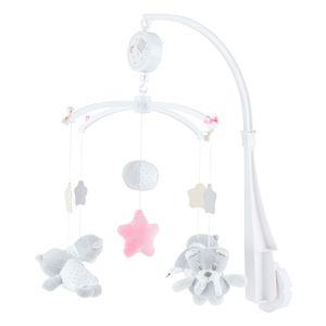 BIECO Musik Mobile Baby, Design: Bärchen Cosmo   Ø 33 cm, Höhe 55 cm   Baby Einschlafhilfe, Spieluhr Baby   Babybett Spielzeug   Mobile Baby Musik   Baby Toys 0-6 Months   Spielt die Melodie LaLeLu