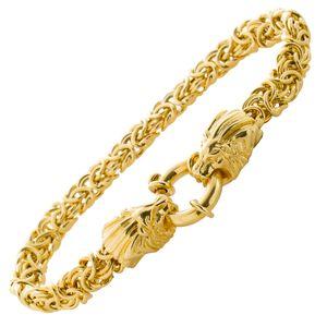 Löwenkopf Armband Königskette Silber 925 vergoldet  19