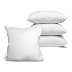 4x Kopfkissen 40x40 cm Innenkissen Steppkissen Mikrofaser Kissen für Allergiker füllkissen Bettkissen Schlafkissen Pillow (Weiß, 4er Set 40 x 40 cm)