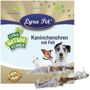 1 kg Lyra Pet® Kaninchenohren mit Fell