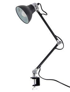 Schreibtischleuchte LED  Schwarz Verstellbar Tischleuchte Schalter Klemmleuchte Klemmlampe