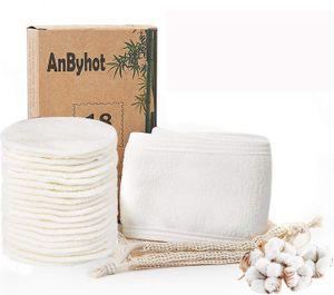 Zodight Wiederverwendbare Wattepads mit Spa Haarband & Wäschesack, Sanft Makeup Entferner Pads aus Bambuskohle und Bambusfasern für Gesichtsreinigung(18 Stück Cleansingpad)