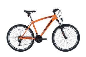 26 Zoll Herrenrad Herren Jugend Mädchen Jungen MTB Fahrrad Mountainbike Jugendfahrrad 21 Gang Shimano Bike Rad Gabelfederung Federgabel Beleuchtung STVO 4600 V ORANGE