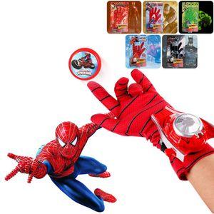 Superheld Spiderman Launcher Handschuhe Cosplay Kinderspielzeug für Jungen@#Spinnenhandschuhe