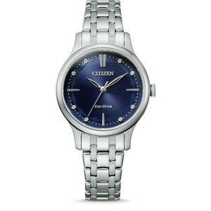 Citizen Damen Solar Armbanduhr Eco-Drive Elegance mit Swarovski Steinen - EM0890-85L