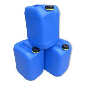 3 Stück 20 Liter Kanister Camping Wasserkanister Farbe blau (3x20 knb)