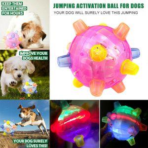 Melario Haustiere Bälle Blinkender Ball LED Licht Hundeball Katzen Aktivierung Spielzeug Pink