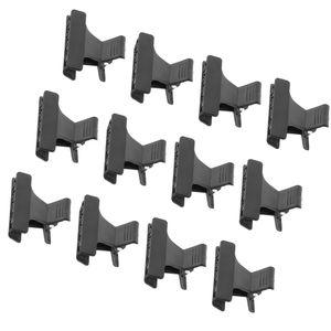 12 Stück Set Schmetterling Friseur Klammern Clips Kunststoff Haarklammern, Abteilklammern (Schwarz)