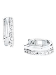 s.Oliver 2025990 Damen Creolen Sterling-Silber 925 Silber Weiß