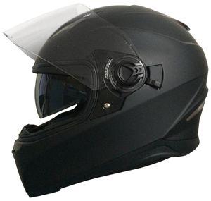 Motorradhelm Integralhelm RALLOX 09B Größe M Helm mit Sonnenvisier  matt schwarz