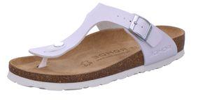 Rohde Alba 5628-00 Damen Zehentrenner Pantoletten Clogs Weite G , Größe:41 EU, Farbe:Weiß