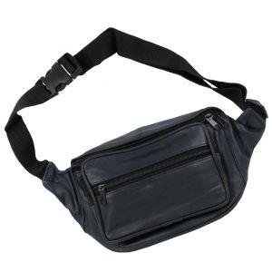 Hüfttasche Bauchtasche Körpertasche Leder Reißverschlussfächer Damen Herren Navy