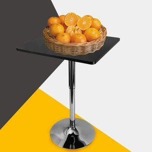 Bistrotisch Höhenverstellbar Schwarz Bartisch Stehtisch Moderner Esstisch Beistelltisch Loungetisch Tabelle Kaffeetisch Konferenztisch