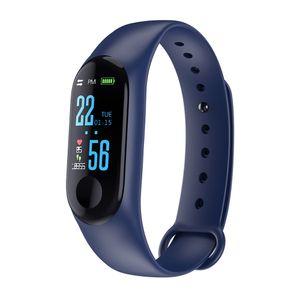 Sport Blutdruck Herzfrequenz Smart Watch Armband Armband Fitness Tracker Blau