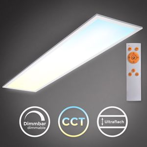 B.K.Licht LED Panel I 24W Deckenleuchte I CCT I Farbtemperatur steuerbar I Dimmbar I Fernbedienung I Ultra Flache Deckenlampe I Memoryfunktion