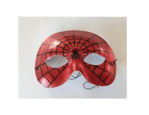 W369388 rot-schwarz Kinder Damen Herren Spinnen Maske Spiderman