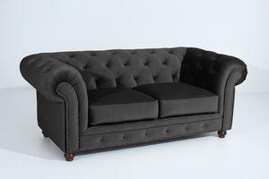 Max Winzer Orleans Sofa 2-Sitzer - Farbe: schwarz - Maße: 196 cm x 100 cm x 77 cm; 2911-2100-2044240-F07