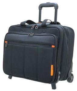 Business Pilotenkoffer Aktenkoffer Laptop Trolley 42 cm Schwarz Bowatex