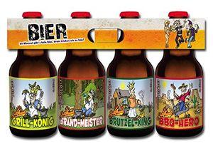 Grill Bier im witzigen Bierschaum Motiv 4er Träger (8,33 EUR / l)