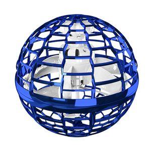 Flynova Pro Flying Ball Bumerang Spinner Dynamische RGB-Lichter Double Pass (Blauer Ball)