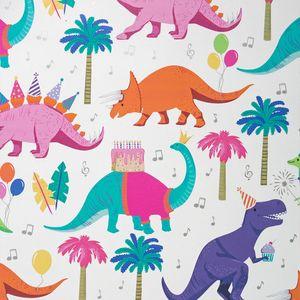 Geschenkpapier Kinder 70cm x 2m Rolle, Motive:Dinosaurier Dinos