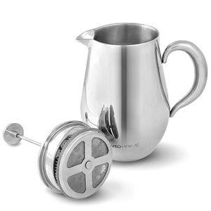French Press Kaffeebereiter VeoHome - Pressfilter-Kaffeekanne unzerbrechlich und hält Ihren kaffee dank der Doppelhülle lange warm (1 Liter)