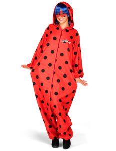 Ladybug-Overall für Erwachsene Miraculous-Lizenzkostüm rot-schwarz