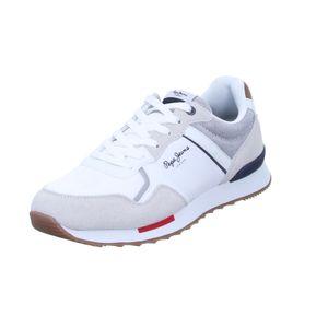 Pepe Jeans Herren Sneaker PMS30704 Weiß