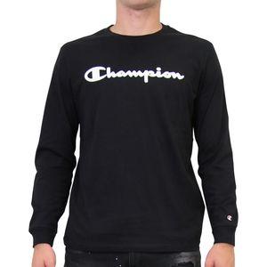 Champion Crewneck Longsleeve Herren Schwarz (213482 KK001) Größe: S