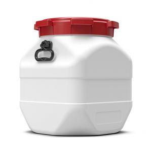 BasicNature Weithalstonne eckig weiß 50 L  Bootstonnen Gepäcktonne Schutztonne absolut wasserdicht