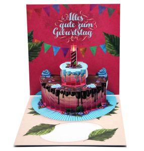 UNIQARD® 3D-Geburtstagskarte - Popup Karte 3D Karte - Außergewöhnliche Grußkarten zum Geburtstag - Geschenkideen, ideal für Gutscheine & Geldgeschenke - Für Kinder & Erwachsene (German)