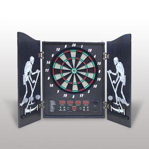 Hengda Dartscheibe, Elektronisches Dartboard 4 LED-Anzeigen Dartspiel 27 Spielen und 243 Varianten Dartautomat fuer Partys und Spieleabende