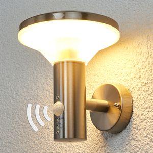 Edelstahl-Außenwandleuchte Jiyan Sensor Bewegungsmelder Edelstahl Lampenwelt LED