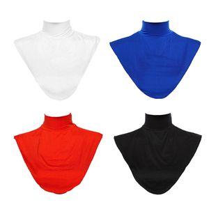 4Pack Damen Modal Faux Rollkragenpullover Dickey Kragen Musselin Hijab Halsabdeckung (Schwarz, Weiß, Rot, Blau)