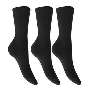 Damen Bambus-Socken, 3 Paar W367 (37-41 EU) (Schwarz)