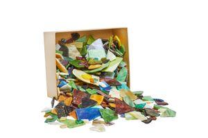 2kg Bruchmosaik-Glas Farbenmix VBS Großhandelspackung Basteln bunt Steine