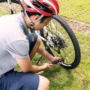 Navaris Mini Luftpumpe Fahrradpumpe klein - Reifen Pumpe mit Adapter - für Schrader und Presta Ventile - für Rad Reifen mit Rahmen Fahrrad Halterung