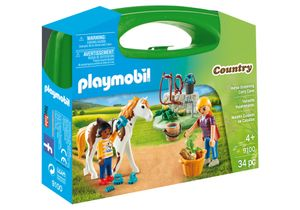 PLAYMOBIL Country Horse Grooming Carry Case, Tier, Mädchen, 4 Jahr(e), Mehrfarben